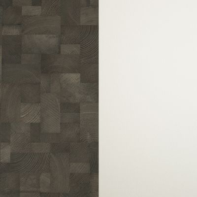 Dark brown wood (in squares) / White (mini pearl)