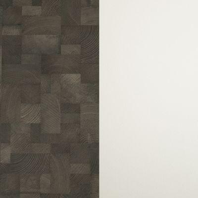 Тёмно коричное дерево (в квадратиках) / Белая