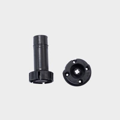 Virt. kojelė, juoda, 2 dalys (ardoma), H-100 mm