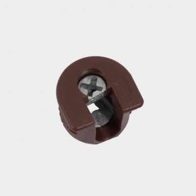 Plastic cam bolt VB 35/19, brown