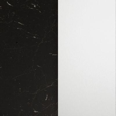 Juodas marmuras, blizgus / Baltas