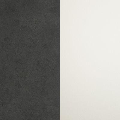 Tamsiai pilkas, gruoblėtas / Baltas
