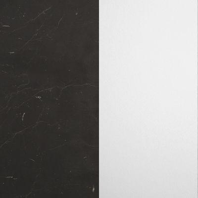 Juodas marmuras, gruoblėtas / Baltas