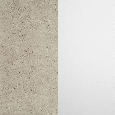 Rusva su aliuminio spalvos drožlėm, blizgi / Baltas