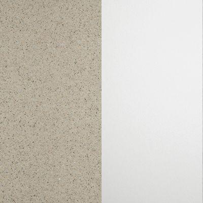 Rusva taškyta su aliuminio spalvos drožlėm / Baltas
