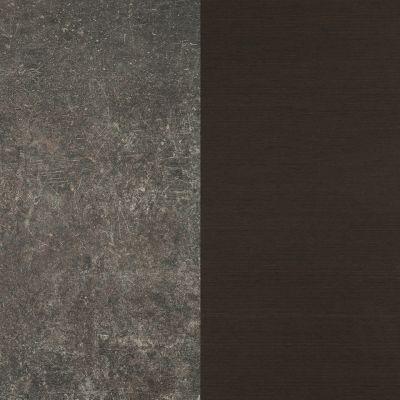 Тёмный серо коричневый с порезками / Дерево Венге в мелкую полоску